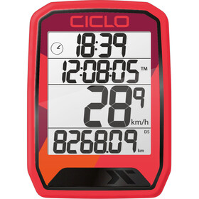Ciclosport Protos 113 Cykelcomputer, red